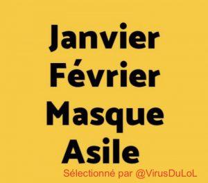 Calendrier 2021 : Janvier, Février, Masque, Asile ...
