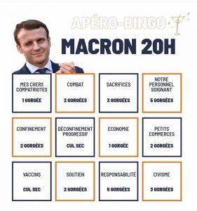 image de l'apéro Bingo de l'allocution reconfinement d'Emmanuel Macron