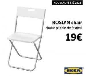 humour Covid - Pour cet été et le retour dans les festivals en mode assis, la chaise Roselyne Bachelot :