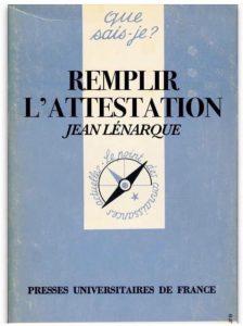"""blague du covid : La seule solution face à l'attestation de déplacement aux 15 options, le fameux """"Que sais-je - Remplir son attestation"""" aux presses universitaires de France"""