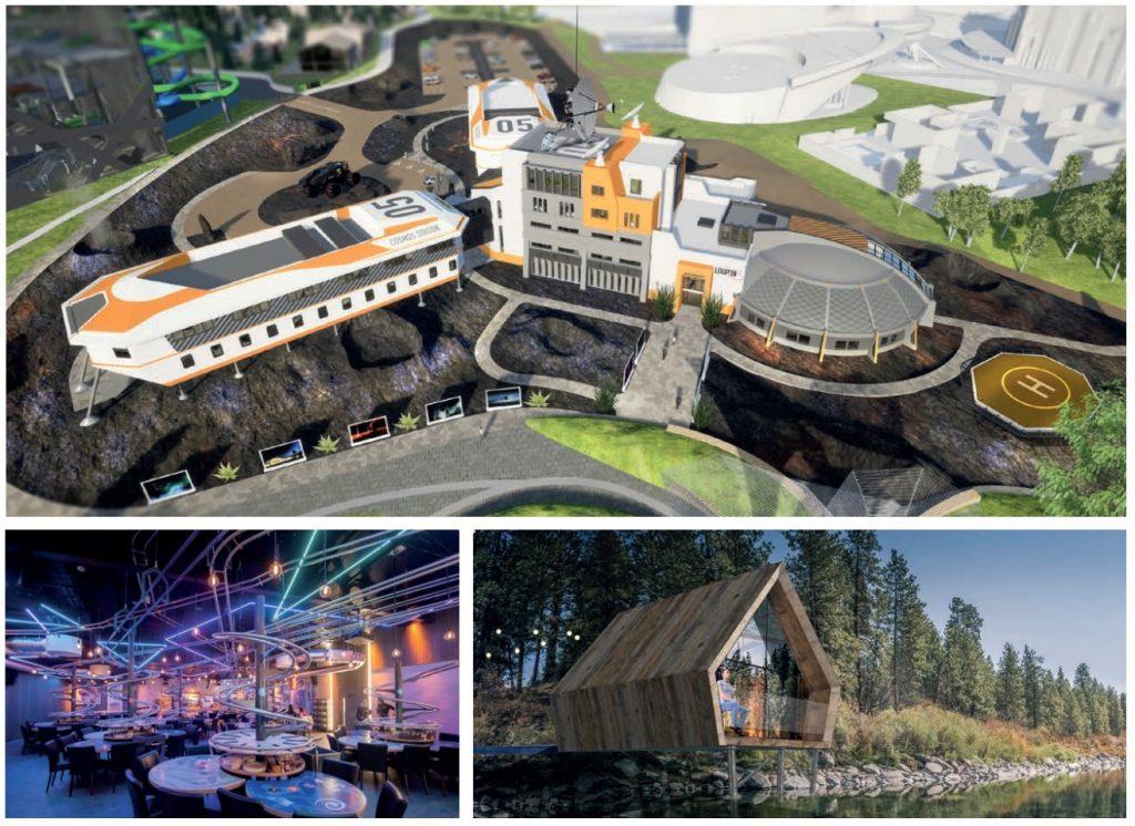 restaurant hyperloop et hotel station cosmos au futuroscope