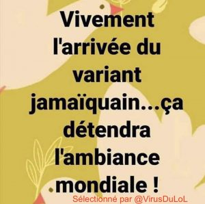 Vivement le variant jamaicain, ça ca détendre l'atmosphère mondiale