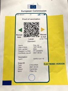 photo pass sanitaire anti-covid version electronique tousanticovid