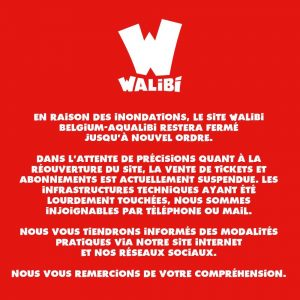quand date ouverture Walibi Belgique après inondation