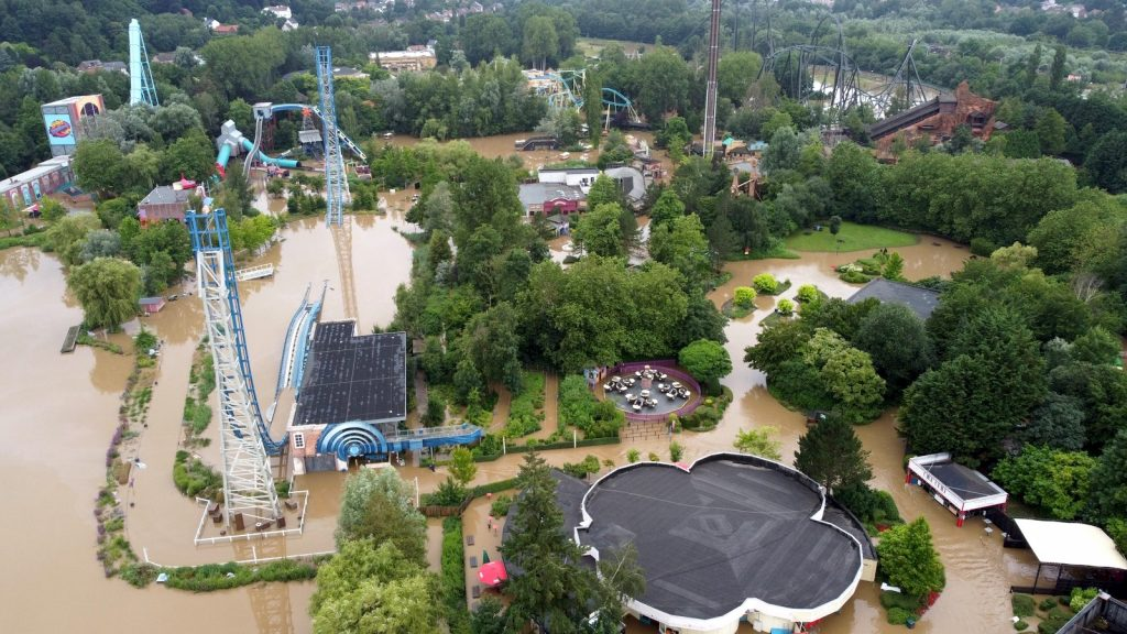 photo walibi belgique inondation