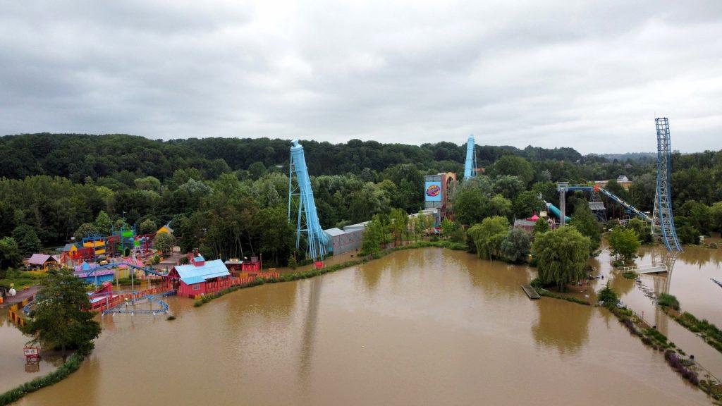 Photo inondation Walibi Belgium