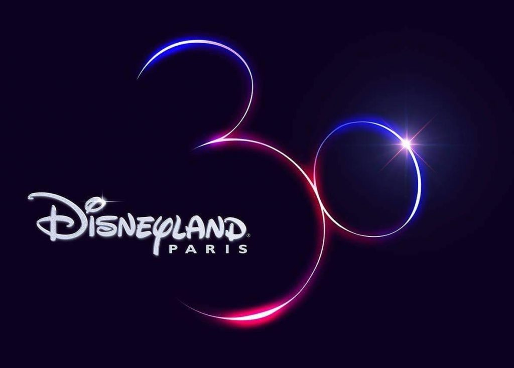 logo anniversaire 30 ans disneyland paris